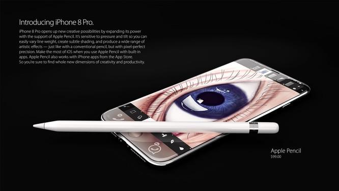 Bộ ảnh dựng tái hiện toàn bộ tính năng rò rỉ của iPhone 8 ảnh 6