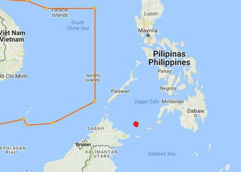 Khu vực tàu Giang Hải bị cướp biển tấn công (chấm đỏ).