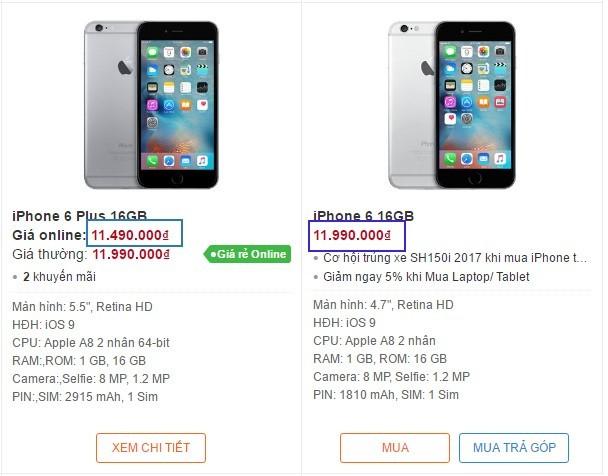 iPhone 6 Plus giá rẻ hơn iPhone 6 tại Việt Nam ảnh 1