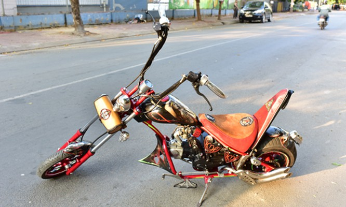 Mini Chopper độ của 'ông già gân' 61 tuổi tại Sài Gòn ảnh 1