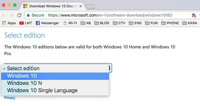 Cách tải file ISO Windows 10 và 8.1 chính thức từ Microsoft ảnh 7