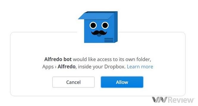 Cách tải file lên Dropbox ngay từ Facebook Messenger ảnh 3