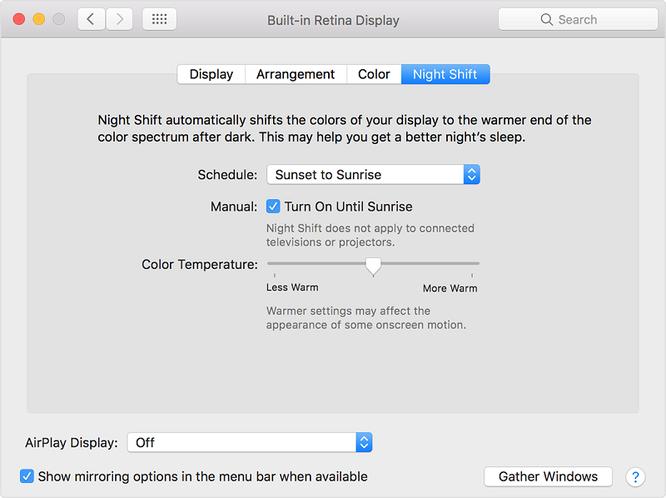macOS chính thức có chế độ ban đêm Night Shift ảnh 3
