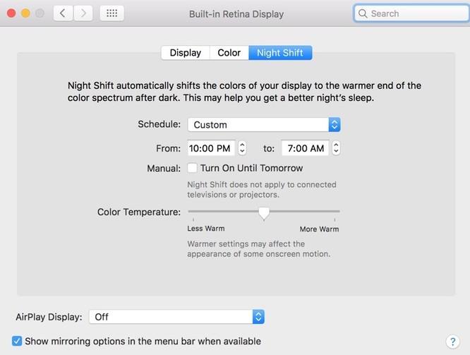 macOS chính thức có chế độ ban đêm Night Shift ảnh 4