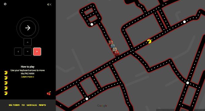 Game Quý cô Pac-Man trên Google Maps kéo dài đến ngày 4/4 ảnh 3