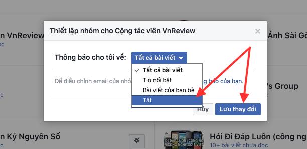 """Cách """"diệt tận gốc"""" thông báo phiền phức từ các Nhóm trên Facebook ảnh 9"""