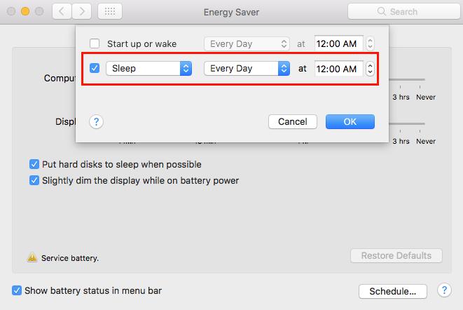 Hướng dẫn hẹn giờ tắt máy trên macOS ảnh 4