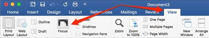 Hướng dẫn bật Focus Mode trên Word 2016 cho Mac để tập trung hơn ảnh 1
