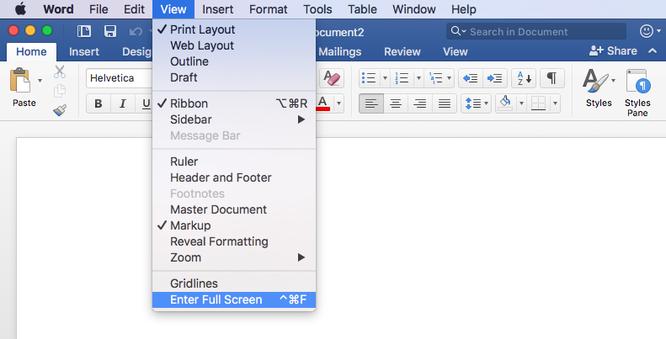 Hướng dẫn bật Focus Mode trên Word 2016 cho Mac để tập trung hơn ảnh 5
