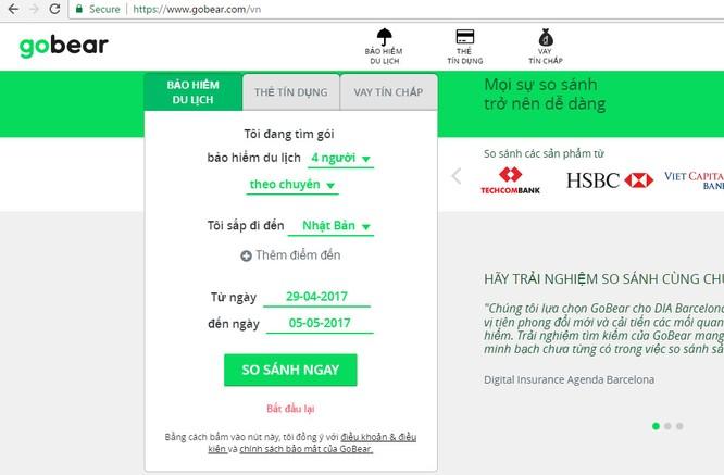 Dùng thử dịch vụ so sánh bảo hiểm du lịch quốc tế trên GoBear Việt Nam ảnh 2