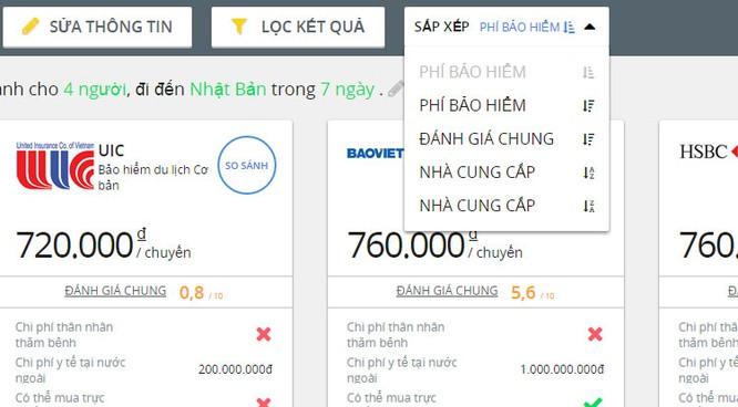 Dùng thử dịch vụ so sánh bảo hiểm du lịch quốc tế trên GoBear Việt Nam ảnh 6