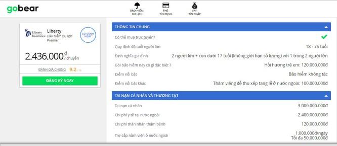 Dùng thử dịch vụ so sánh bảo hiểm du lịch quốc tế trên GoBear Việt Nam ảnh 8