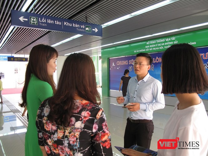 Cận cảnh nhà ga, tàu mẫu đường sắt trên cao Cát Linh - Hà Đông ảnh 31