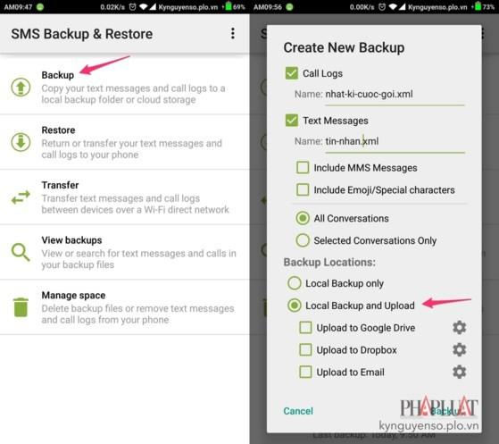 2 cách khôi phục tin nhắn đã xóa trên smartphone ảnh 5