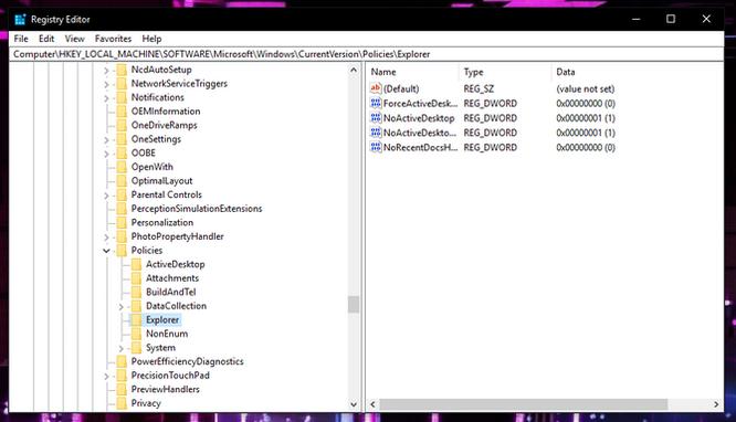 Ẩn tùy chọn thiết lập trong Settings của Windows 10 ảnh 2