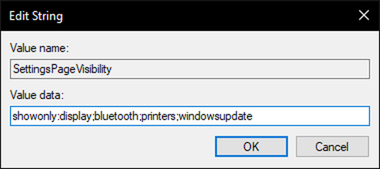 Ẩn tùy chọn thiết lập trong Settings của Windows 10 ảnh 5