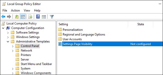 Ẩn tùy chọn thiết lập trong Settings của Windows 10 ảnh 8