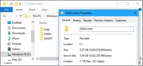 Có nên xóa thư mục $GetCurrent và $SysReset trên Windows 10? ảnh 1