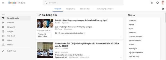 Giao diện mới của Google News: Đơn giản, trực quan và tiện dụng ảnh 1