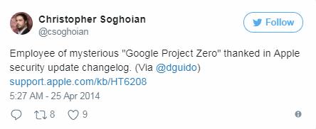 Project Zero: đội đặc nhiệm an ninh mạng của Google ảnh 3