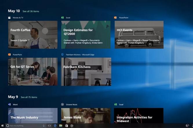 Vẫn chưa thể trải nghiệm Windows 10 Timeline trong năm nay ảnh 1