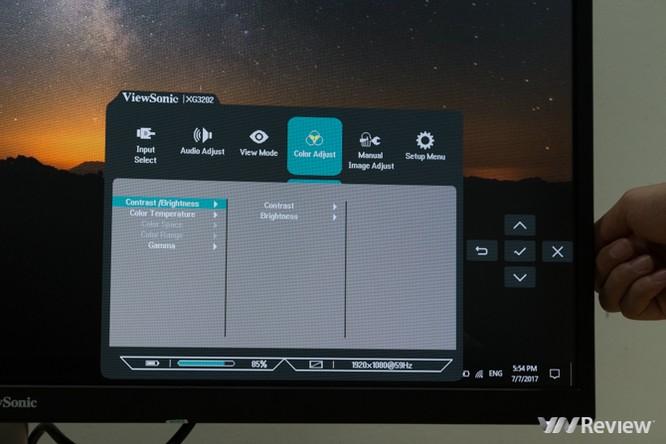 Màn hình ViewSonic XG3202-C: Kiểu dáng đẹp, kích thước lớn, tần số quét cao ảnh 21