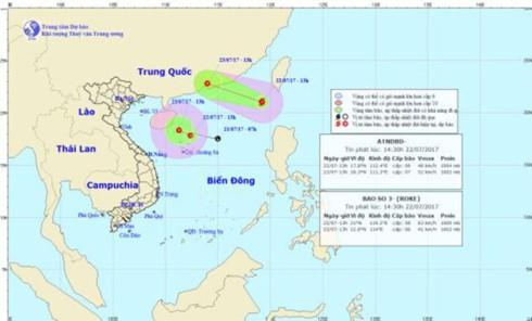 Bão số 3 hình thành trên Biển Đông, cảnh báo rủi ro thiên tai cấp 3 ảnh 1