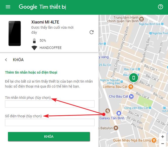 Cách tìm điện thoại Android bị thất lạc bằng máy tính ảnh 4