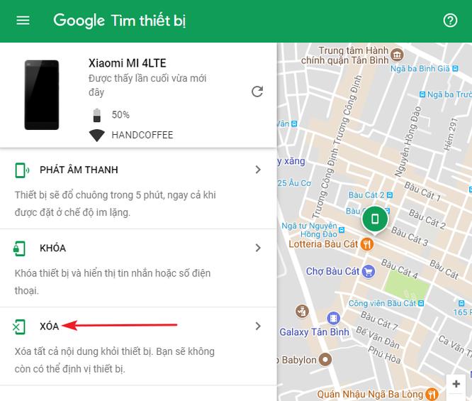 Cách tìm điện thoại Android bị thất lạc bằng máy tính ảnh 5