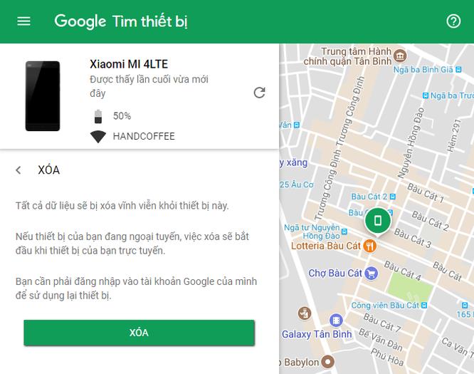Cách tìm điện thoại Android bị thất lạc bằng máy tính ảnh 6