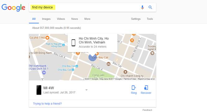 Cách tìm điện thoại Android bị thất lạc bằng máy tính ảnh 7
