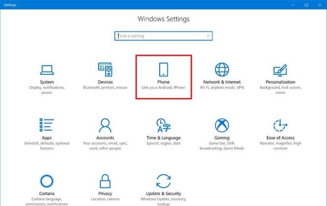 Đã có thể kết nối Windows 10 Fall Creators với điện thoại Android ảnh 1
