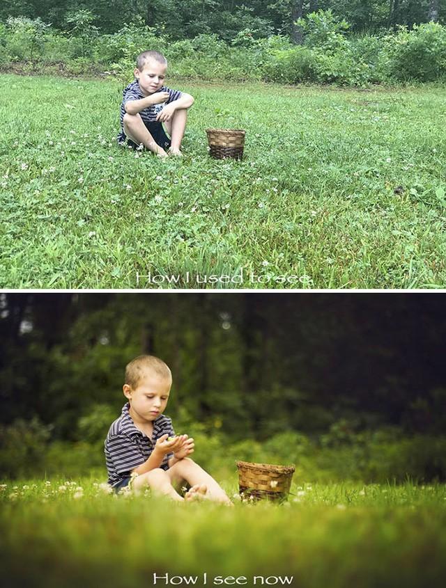 Một ví dụ cho thấy sự khác nhau rõ rệt giữa ảnh chụp thực tế và ảnh chụp nghệ thuật.
