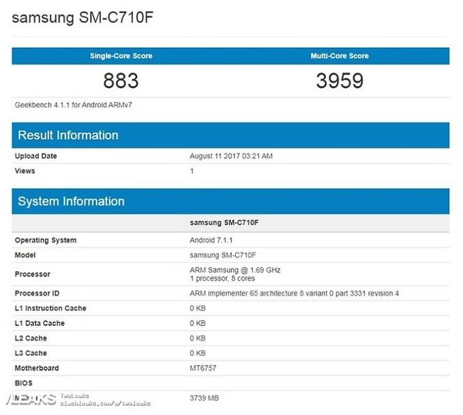 Galaxy C7 (2017) xuất hiện trên Geekbench với vi xử lý MediaTek ảnh 1