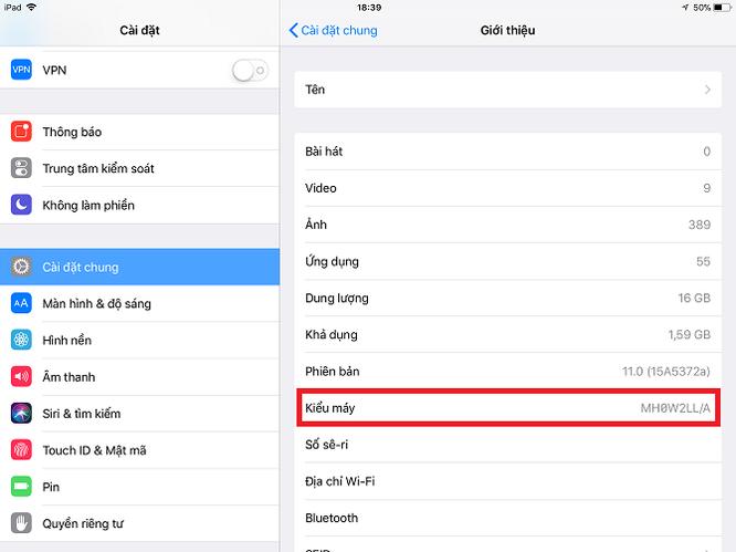 Làm sao để biết bạn đang dùng iPad đời nào? ảnh 2