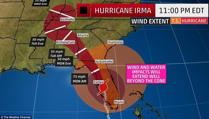 """""""Quái vật"""" Irma cuồng nộ khiến Florida (Mỹ) tan hoang ảnh 1"""