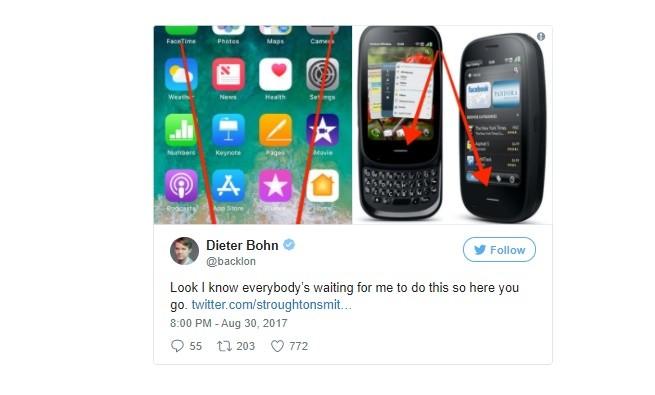iPhone X đã bắt chước điều gì từ Palm Pre?