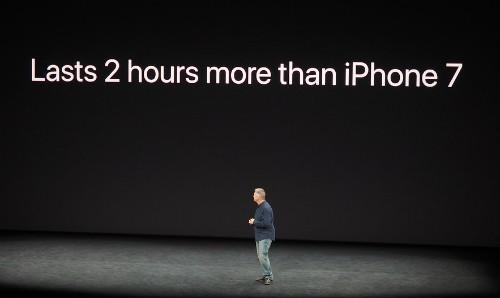 Pin của iPhone X lâu hơn 2 giờ so với iPhone 7.
