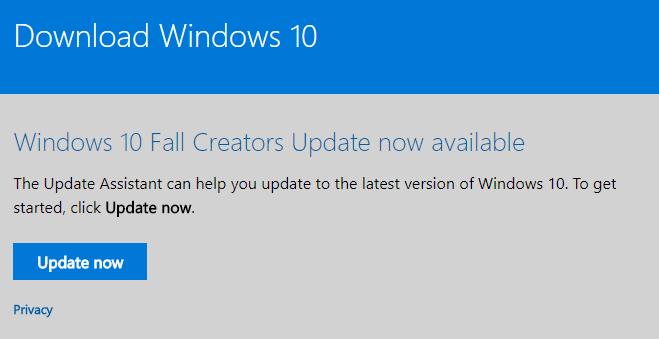 Hướng dẫn tải về Windows 10 Fall Creators Update ảnh 3