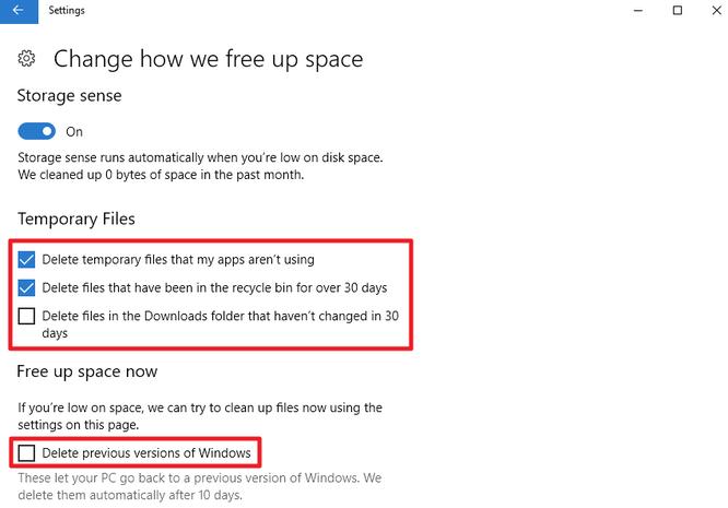Tự động xóa file trong thư mục Downloads và Recycle Bin sau 30 ngày trên Windows 10 ảnh 2