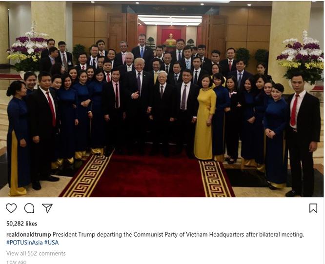 Hình ảnh Hà Nội tươi đẹp trên trang cá nhân của Tổng thống Mỹ Donald Trump ảnh 1