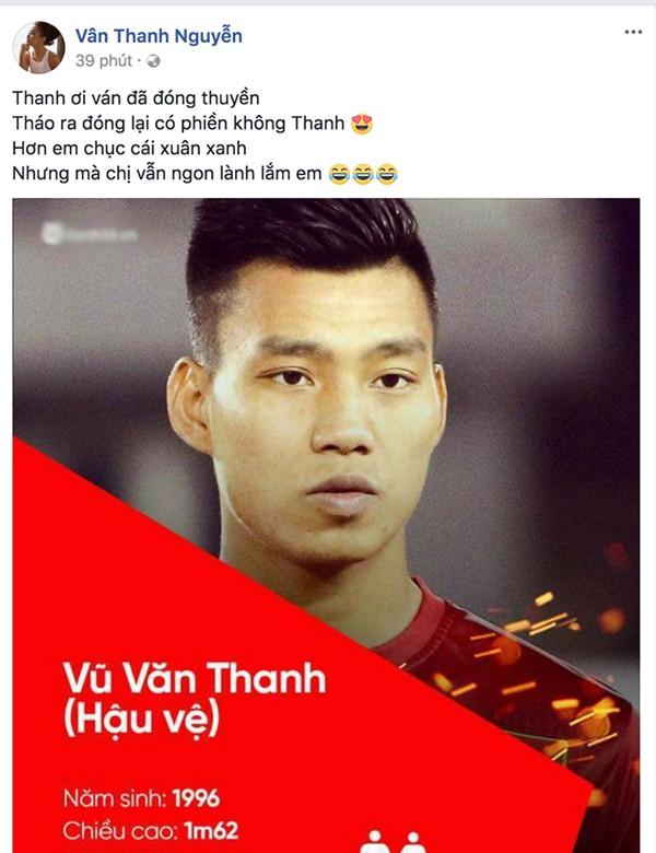 """Vân Hugo bị fan khủng bố khi """"thả thính"""" Văn Thanh U23 ảnh 1"""