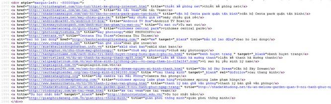 """NÓNG: 12/63 Cổng thông tin điện tử tỉnh, thành bị gắn """"link ẩn"""" ảnh 9"""