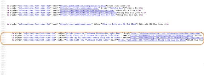 """NÓNG: 12/63 Cổng thông tin điện tử tỉnh, thành bị gắn """"link ẩn"""" ảnh 22"""