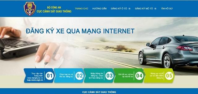 Hướng dẫn đăng ký trực tuyến sang tên đổi chủ, cấp biển số xe ô tô, xe máy ảnh 1