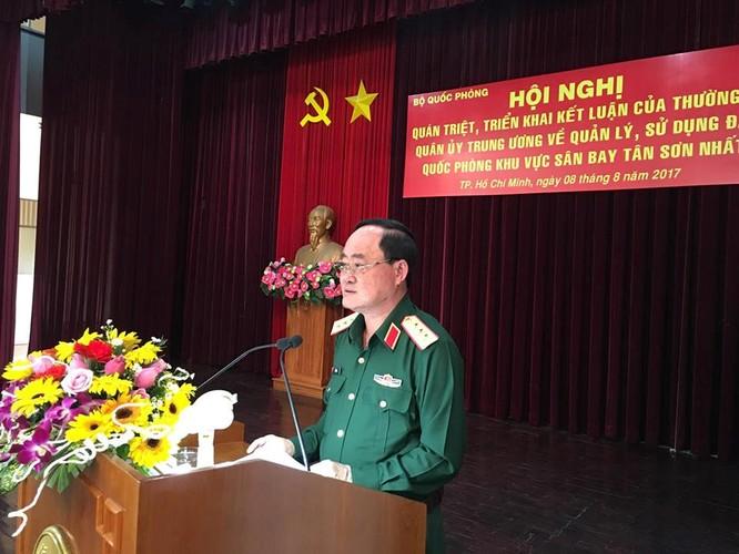 Thượng tướng Trần Đơn chủ trì hội nghị Ảnh: Đình Phú