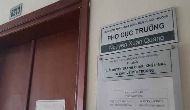 Ông Nguyễn Xuân Quang được Tổng cục Môi trường