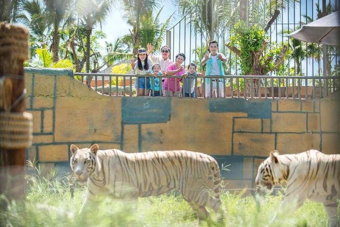 Du khách yêu thích thiên nhiên còn có thể dạo chơi tại Vườn Quý Vương