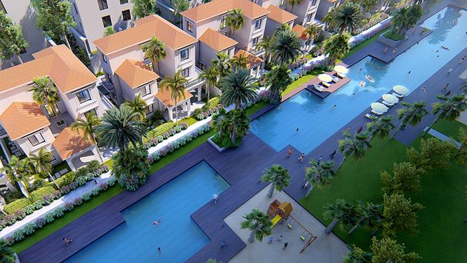 Với 5 hồ bơi trong lòng dự án và các hồ bơi riêng trong từng căn hộ, Sunshine Crystal River khẳng định đẳng cấp của phong cách sống nghỉ dưỡng thượng lưu và quý tộc.