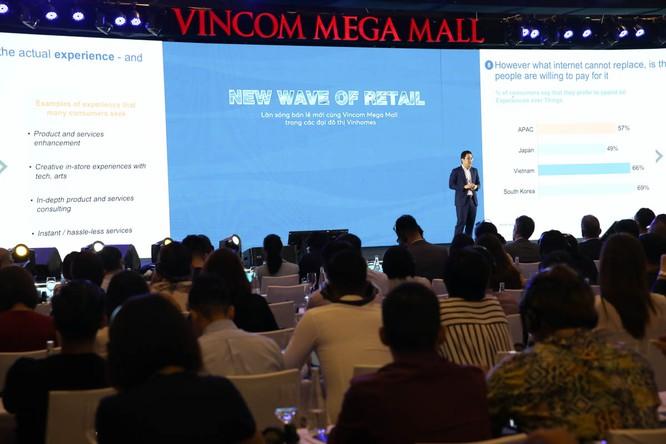 Phần thuyết trình của Ông James Yang – Lãnh đạo Công ty Oliver Wyman khẳng định tiềm năng phát triển mạnh mẽ của Vincom Retail
